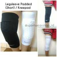 Legsleeve Padded (Legpad) Short / Kneepad Nike Hitam Dan Putih