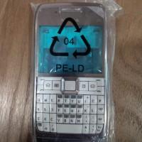 Casing Nokia E71 fullset [silver-putih]
