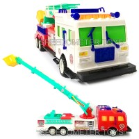 Mainan Anak Truk Mobil Pemadam Kebakaran Dorong