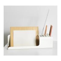 IKEA KVISSLE Desk Organizer, Pengaturan meja, Putih