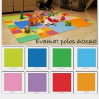 Mainan Anak - Matras / Evamat / Evamats / Puzzle Eva Polos 60 x 60 4pc