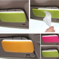 Car Sun Visor Tissue Box Slide Cover Paper Napkin Holder