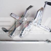 FOOTSTEP DEPAN / UNDERBONE VIXION LAMA (OLD) FULL CNC IMPOR SILVER