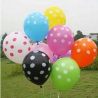 balon polkadot/ balon karet gambar bulat-bulet dijamin murah