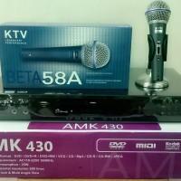 DVD Karaoke AVANTE 430 Free Mic Cable KTV BETA 58A