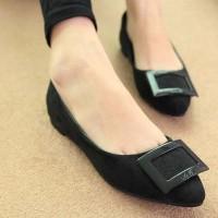 harga Sepatu Flat Wanita Import Murah Beludru Square 46 Tokopedia.com