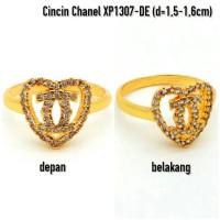 XP1307-DE Cincin Perhiasan Lapis Emas Gold