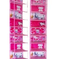 Jual HSOZ Hello Kitty Pink (Hanging Shoes Organizer) Rak Sepatu Retsleting Murah