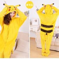 harga Pajamas / Piyama Jumpsuit Dewasa Plush Pikachu Pokemon Tokopedia.com
