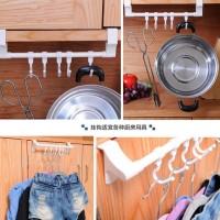 Gantungan Baju / Barang Portable Multifungsi 5 Kait Jarak Bisa Diatur