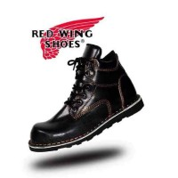 Sepatu readwing all black full kulit safety