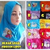 harga Jilbab Anak Frozen Lipit Tokopedia.com