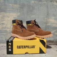 "Safety Shoes CaterPillar Lion ""Coklat Muda"" Bahan Suede"