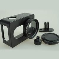 Case Pelindung Xiaomi Yi Action Camera Bahan Alumunium & UV FILTER