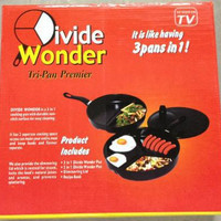 Divided Wonder Pan Set 3 in 1 Teflon Anti Lengket