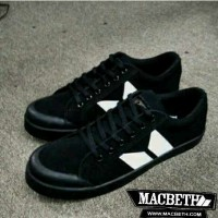 harga Sepatu Macbeth Vegan Black White Tokopedia.com