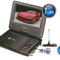 "Dvd Layar Portable Tori 8"" In Support Tv Ch 100% Original"