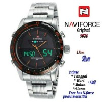 jam brand cowok NAVI FORCE D Time Original model Seiko Terbaru