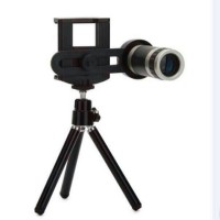 Lensa telezoom 8x clip lipat+tripod semua smartphone