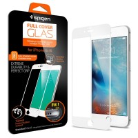 Spigen Oleophobic Coated Tempered Glass FC White for iPhone 6S plus