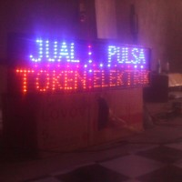Tulisan Lampu Led / Led Sign JUAL PULSA - TOKEN - ELEKTRIK