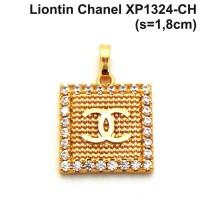 harga XP1324-CH Liontin Chanel Perhiasan Lapis Emas Gold Tokopedia.com