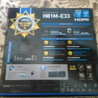 motherboard msi h81-e33 haswell