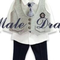 setelan anak laki laki (MD 4IN1 Vest Grey )