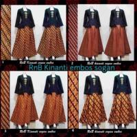 RnB Kinanti Sogan Batik Dress Rok Modern Kutu baru Tradisional Kebaya