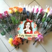 Jual Bunga Mawar Plastik + Pita (Artificial) Murah