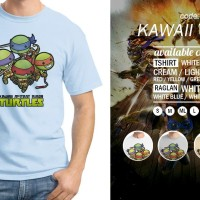 T-Shirt-Kawaii TMNT; Master Splinter; Rust In Peace