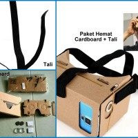 Cardboard + Tali Pengikat Kepala Google Cardboard VR Smartphone