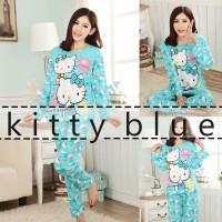 Jual Baju Tidur Wanita / Piyama Wanita / Setelan piyama / Hello Kitty Blue Murah