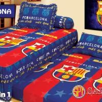 Sprei Barcelona FC Twin Bed (Sorong) Ukuran 120x200