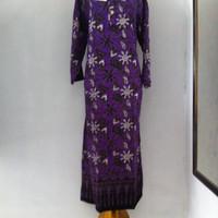 Jual daster kencana ungu super / daster lengan panjang / longdres/batik Murah