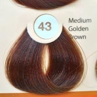 REVLON COLORSILK NO43 MEDIUM GOLDEN BROWN HAIR COLOR CAT RAMBUT