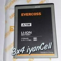 harga Baterai/battery Evercoss A75w - 2100mah Tokopedia.com