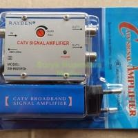 Penjernih & Penguat Sinyal TV (TV Signal Booster) + 2 Splitter