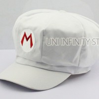 ACHT0001 Topi White Raccoon Mario Hat Costume Cosplay
