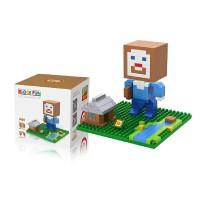 LOZ Lego Nano Block Large Minecraft Steve House -9468