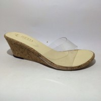 harga Sandal Wanita Mika Transparan Wedges High Heels Fashion Tokopedia.com