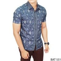 Harga model kemeja batik pria kombinasi katun multi colour bat | antitipu.com