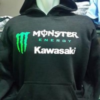 Jaket/sweater/hoodie zipper Kawasaki Monster Energy