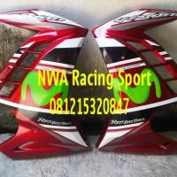 harga Half Fairing New Vixion Merah model Ninja Fi seri Movistar Tokopedia.com