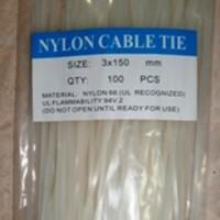 kabel tis nylon cable tie plastik ikat 100 buah bh ukuran 150 mm pcs