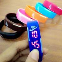 Jam Tangan Gelang LED Adidas Nike Puma Sporty Digital Rubber Watch Gym