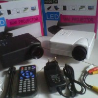 Mini LED Projector H100 With TV Tuner 100 Lumens Size Image Up To 100""