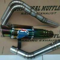 knalpot racing ninja 250cc dan R25 merk termicnon