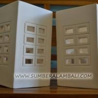 Lampu minimalis keramik batu kotak lampu dinding villa bali