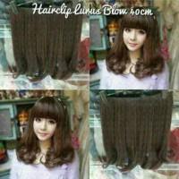 Jual Hair Clip Big Layer 40 cm Lurus Blow / hairclip 40cm straight Murah